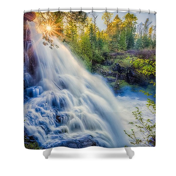 Partridge Falls In Late Afternoon Shower Curtain