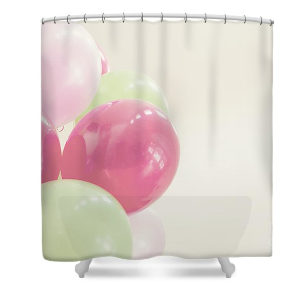 Party Balloons Shower Curtain