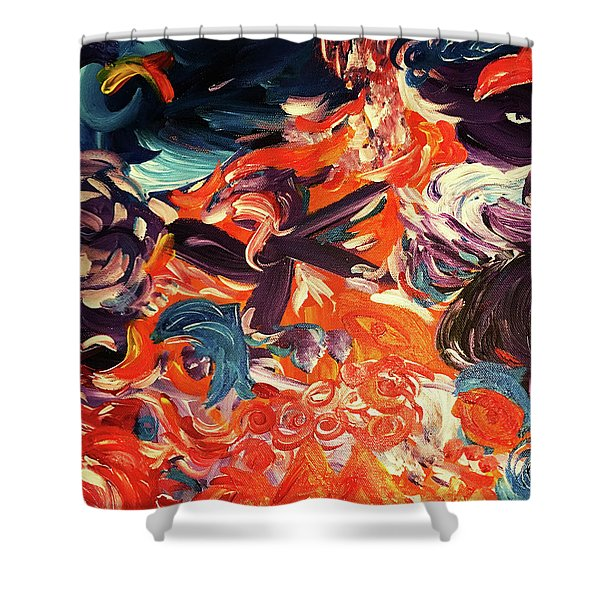 Party In A Parallel Reality Shower Curtain
