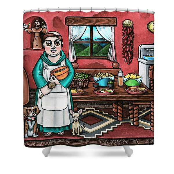 Pascuals Pups Shower Curtain