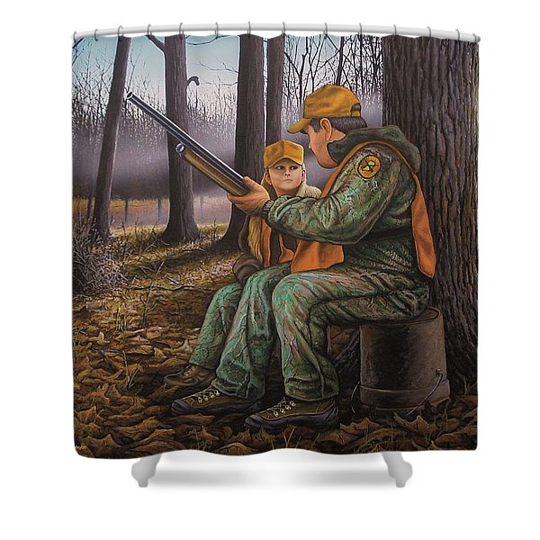 Pass It On - Hunting Shower Curtain
