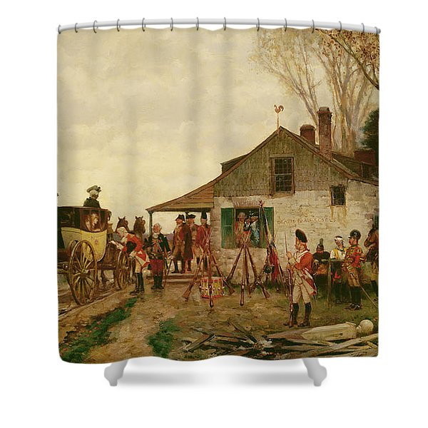 Passing The Outpost Shower Curtain