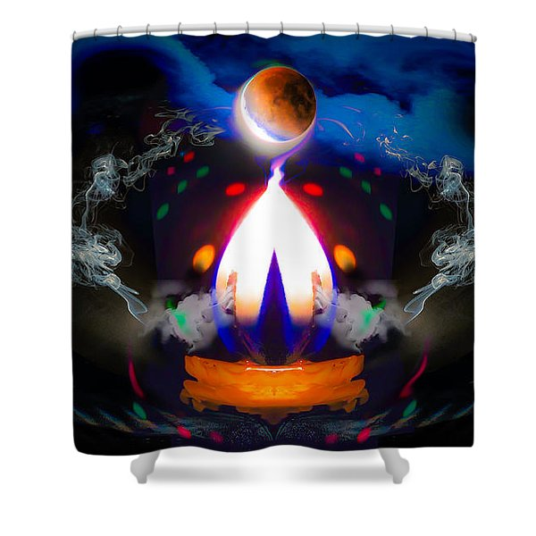 Passion Eclipsed Shower Curtain