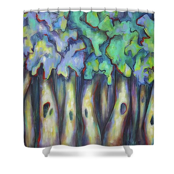 Past And Present Shower Curtain