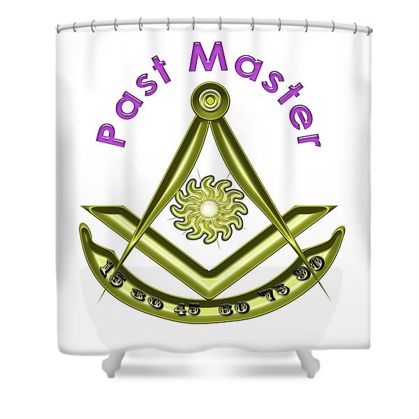Past Master In White Shower Curtain