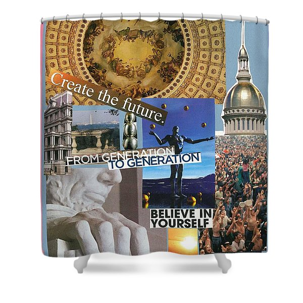 Past Present Future Shower Curtain