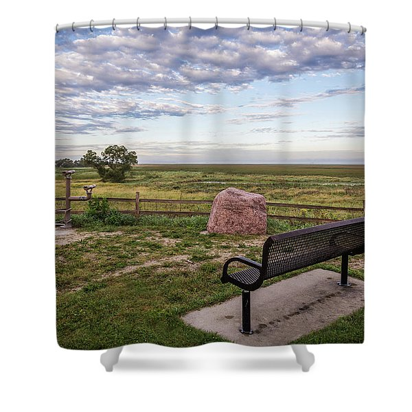 Past The Birch 2017 Shower Curtain