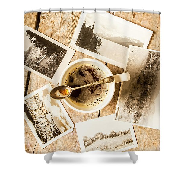 Past Time Tea Shower Curtain
