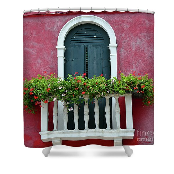 Pastel Colors Of Burano  Shower Curtain