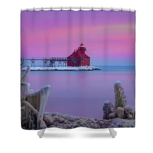 Pastel Lighthouse Shower Curtain