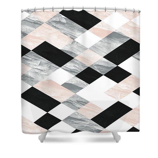 Pastel Scheme Geometry Shower Curtain