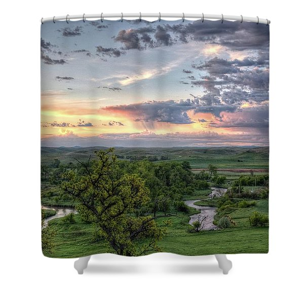 Pastel Spring Morning Shower Curtain