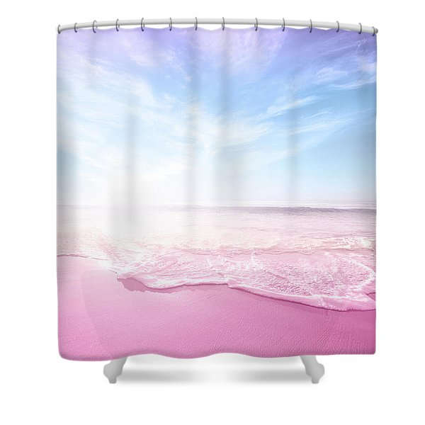 Pastel Summer Beach Vacation Shower Curtain