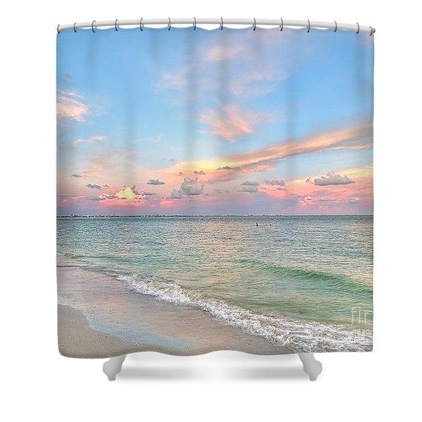 Pastel Sunset On Sanibel Island Shower Curtain
