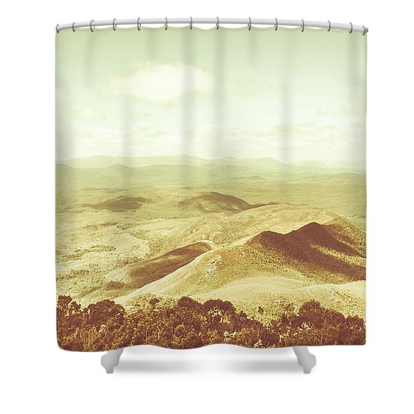 Pastel Tone Mountains Shower Curtain