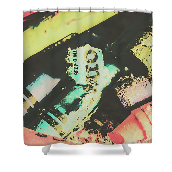 Pastel Toned Crayons Shower Curtain