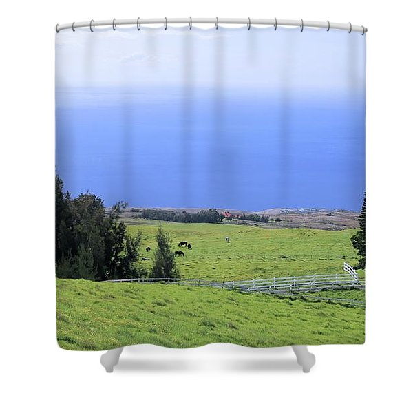 Pasture By The Ocean Shower Curtain