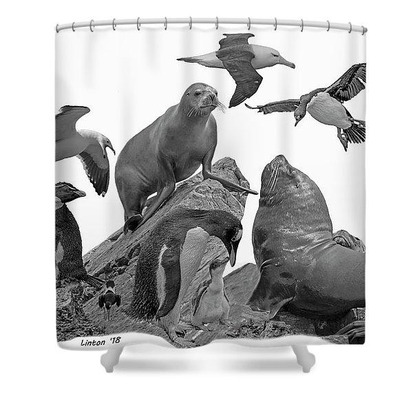 Patagonian Wildlife Shower Curtain