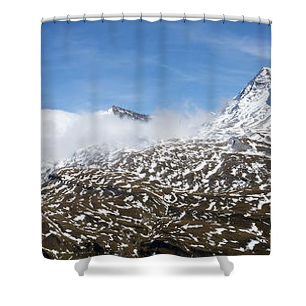 Patches Of Snow Shower Curtain
