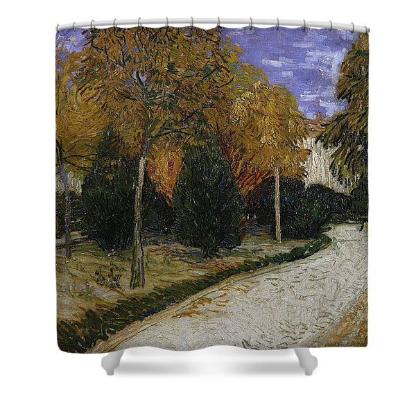 Path In The Park At Arles Shower Curtain
