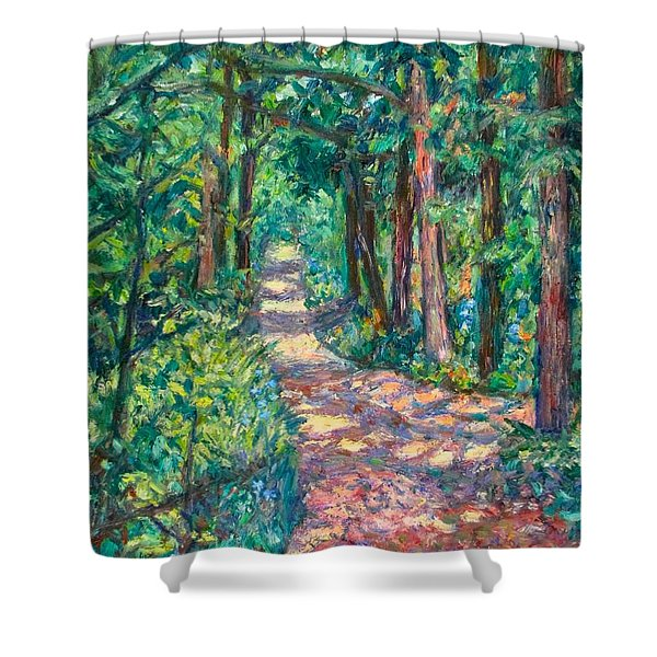 Path On Sharp Top Shower Curtain