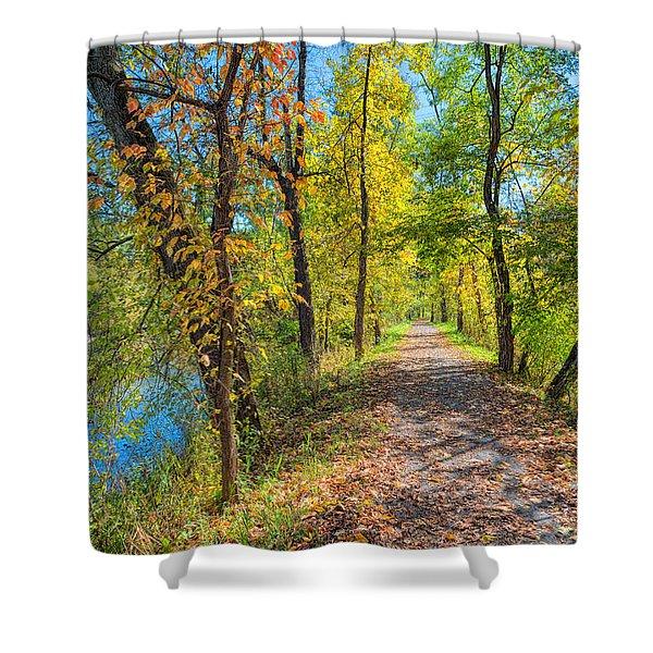 Path Through Fall Shower Curtain