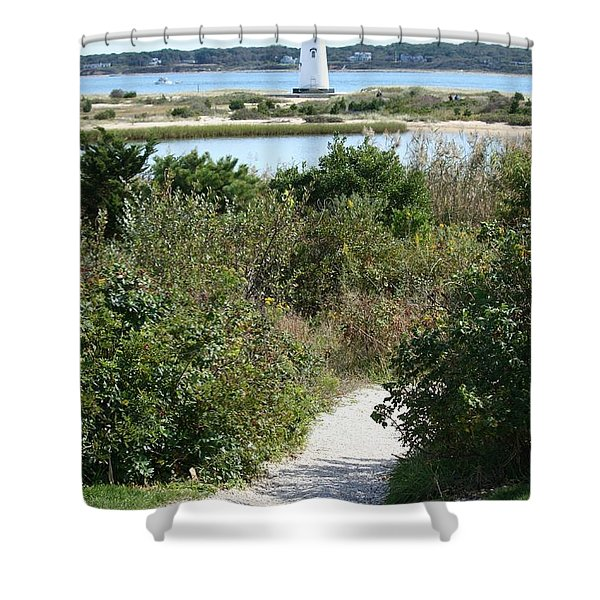 Path To Edgartown Lighthouse Shower Curtain