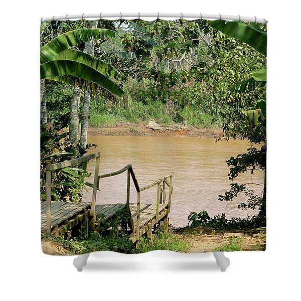 Path To The Amazon River Shower Curtain
