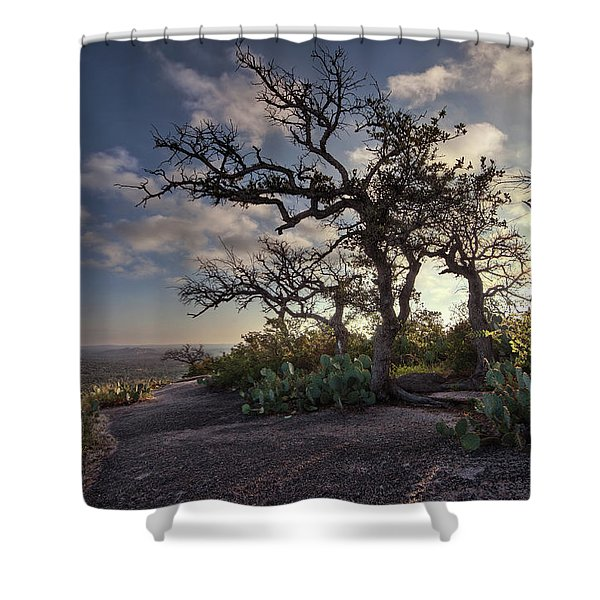 Pathway On Top Of Enchanted Rock Shower Curtain