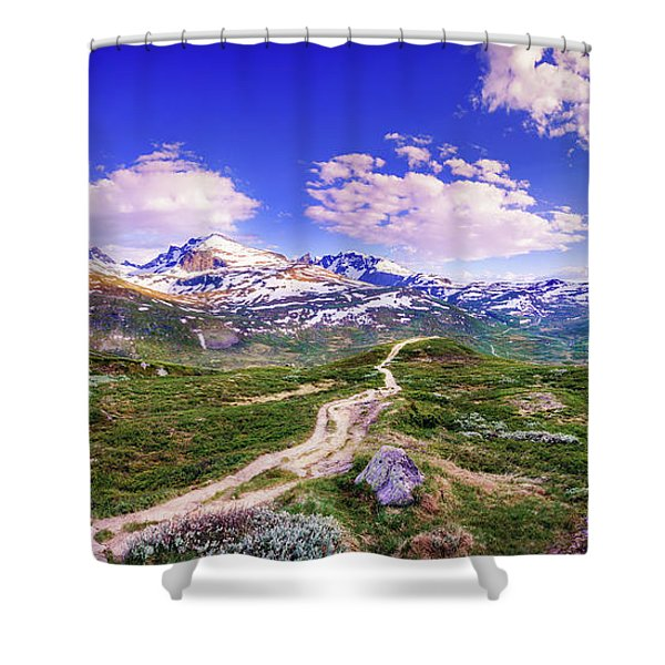 Pathway To A Valley Shower Curtain