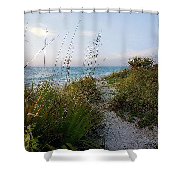 Pathway To Barefoot Beach  In Naples Shower Curtain