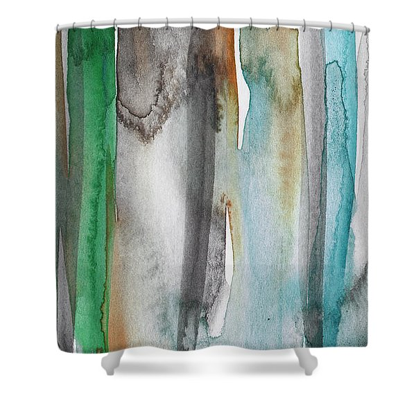 Patina- Abstract Art By Linda Woods Shower Curtain