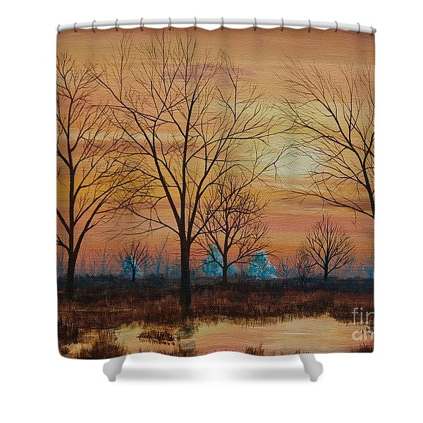 Patomac River Sunset Shower Curtain