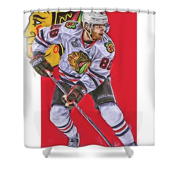 Patrick Kane Chicago Blackhawks Oil Art Series 2 Shower Curtain