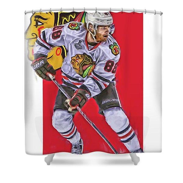 Patrick Kane Chicago Blackhawks Oil Art Series 2 Shower Curtain
