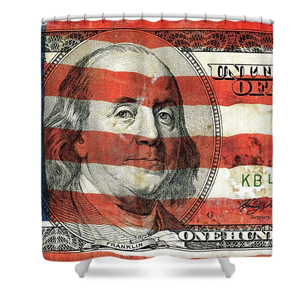 Patriotic Benjamin Shower Curtain
