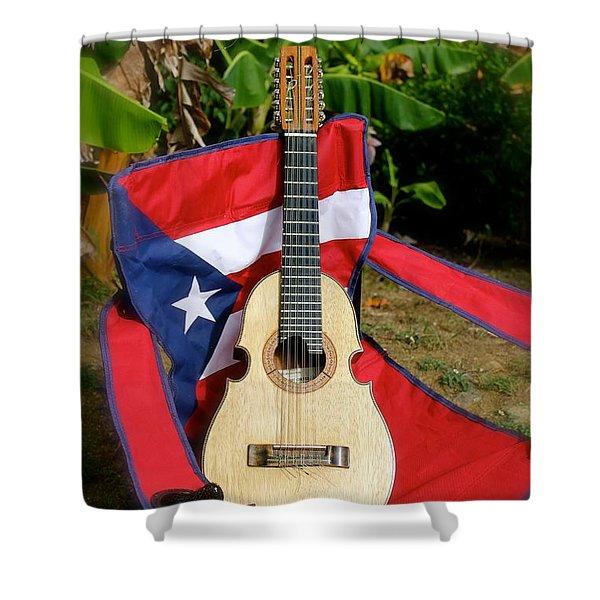 Patriotic Cuatro Shower Curtain