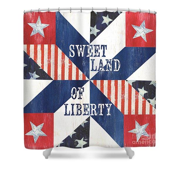 Patriotic Quilt 3 Shower Curtain
