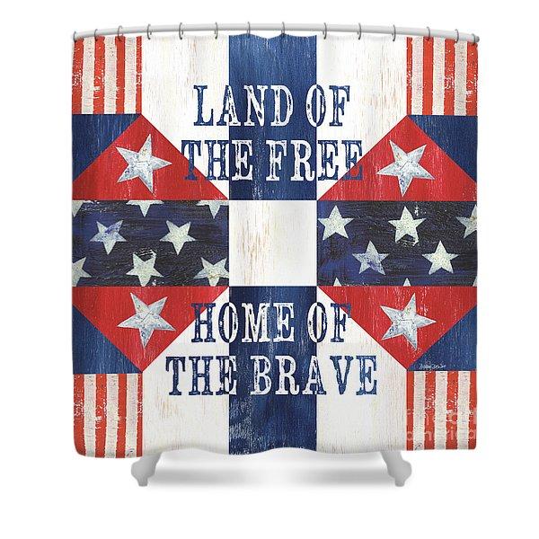 Patriotic Quilt 4 Shower Curtain