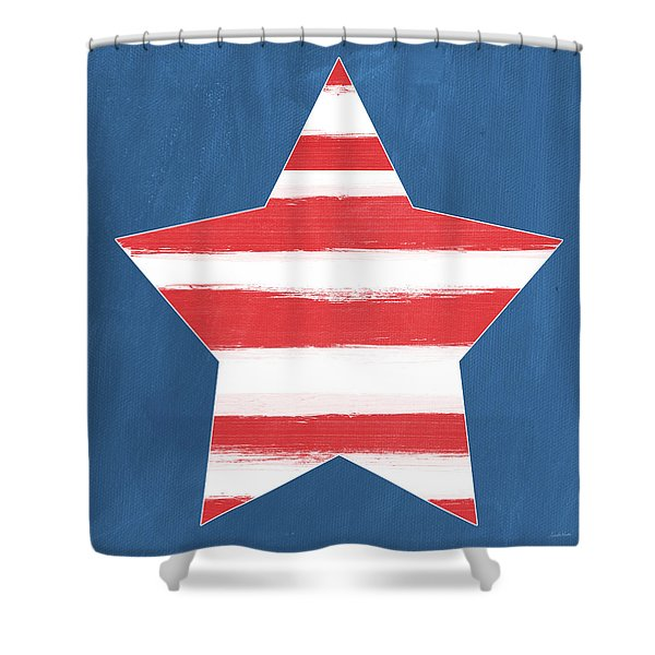 Patriotic Star Shower Curtain