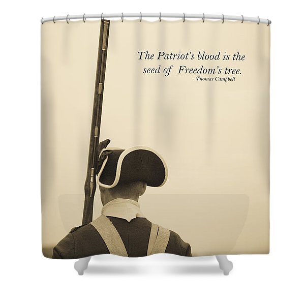 Patriots Blood Memorial Day Shower Curtain