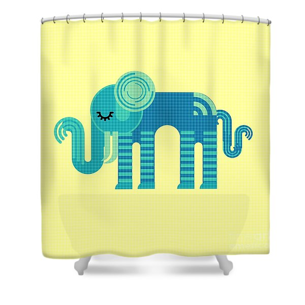 Pattern Elephant Shower Curtain