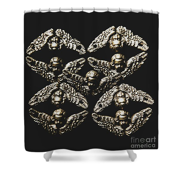 Pattern Of Antique Cupid Angels  Shower Curtain
