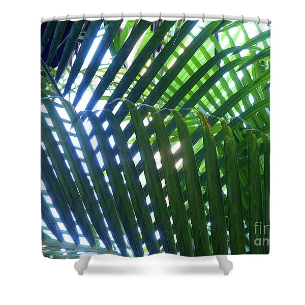 Patterned Palms Shower Curtain