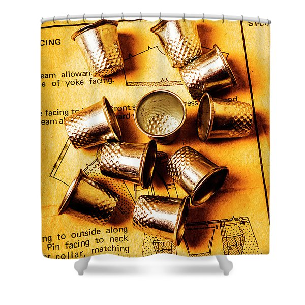 Patterns And Thimbles Shower Curtain