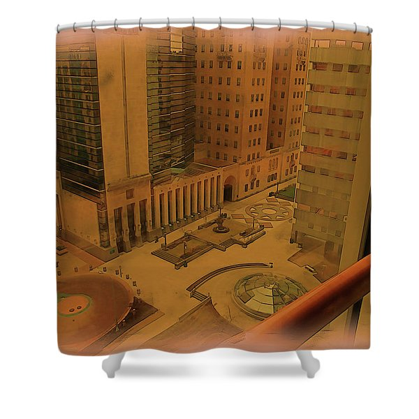 Shower Curtain featuring the digital art Patterns In Architecture by Tristan Armstrong