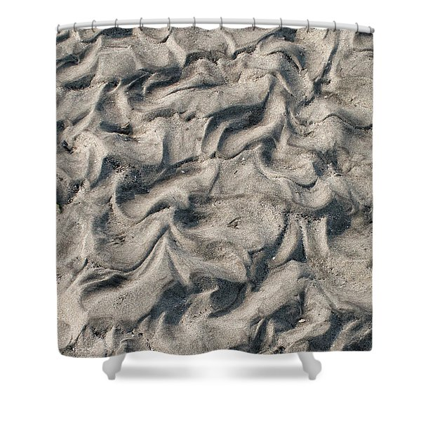 Shower Curtain featuring the photograph Patterns In Sand 4 by William Selander