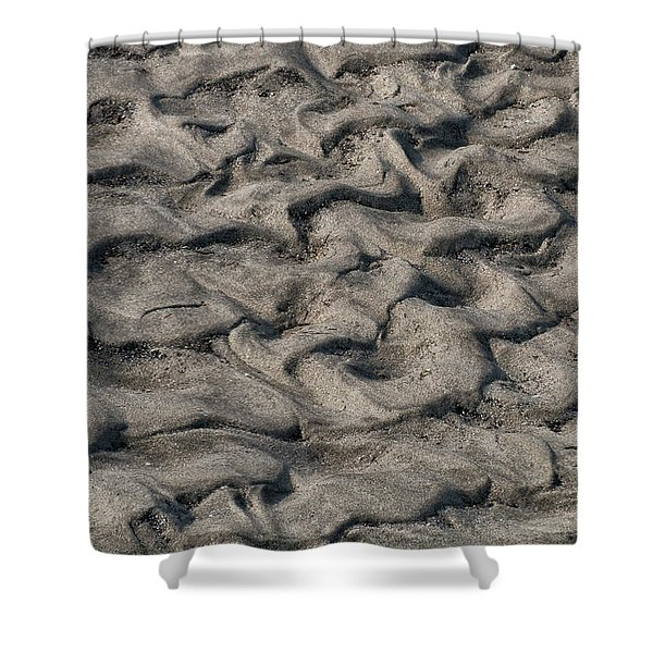 Shower Curtain featuring the photograph Patterns In Sand 6 by William Selander
