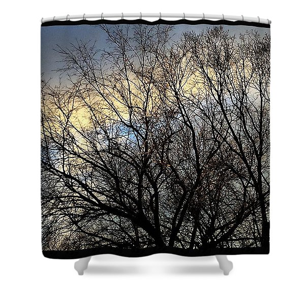 Patterns In The Sky Shower Curtain