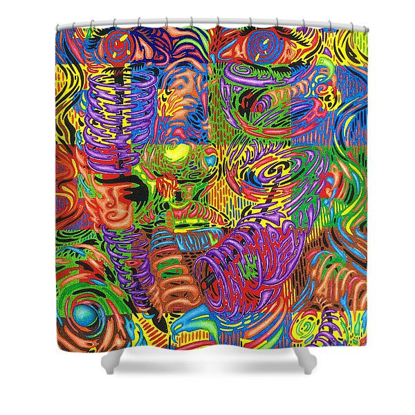 Patterns Of Personality Shower Curtain